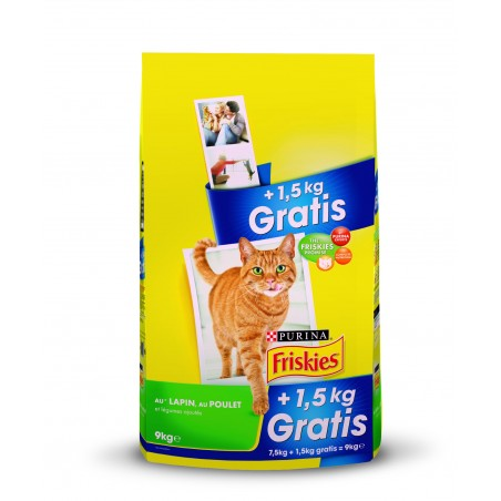 ALIMENT CHAT FRISKIES VITALITY+ LAPIN 7.5 KG