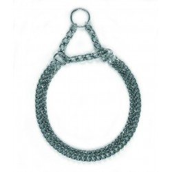 COLLIER CHAINE 2 RANGEES 50 CM 25 MM