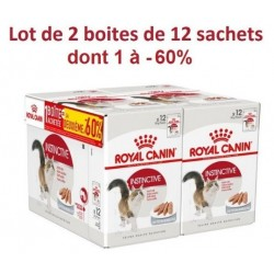 ALIMENT HUMIDE CHAT INSTINCTIVE MOUSSE 12X85G 1+1 A-60% ROYAL CANIN