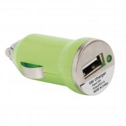 CHARGEUR USB POUR VOITURE - 12V  - EXISTE EN PLUSIEURS COLORIS  NOIR - BLANC - VERT ANIS - ROSE
