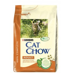 ALIMENT CHAT CAT CHOW ADULT POULET ET DINDE 3KG