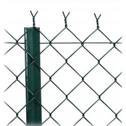GRILLAGE SIMPLE TORSION PLASTIFIÉ VERT 1.20MX20M M50 X2.4