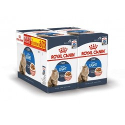 ALIMENT HUMIDE CHAT ULTRA LIGHT SAUCE 12X85G 1+1 A-60% ROYAL CANIN