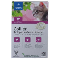 COLLIER ANTIPARASITAIRE FLUO CHAT 35CM