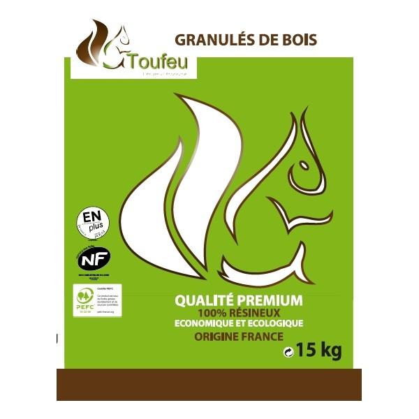 Pellet granule 100 bois sac 15kg pole vert cahors - Sac a granule ...