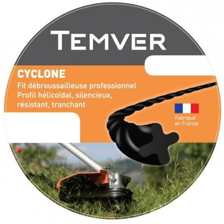 FIL NYLON TEMVER CYCLONE 2.4MM X 88M