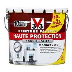 PEINTURE FACADES HAUTE PROTECTION BLANC 10L+20% V33