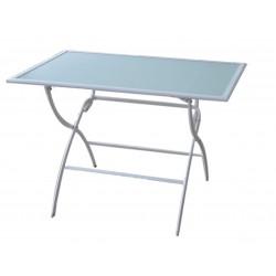 TABLE LEUCATE PLIANTE 110X70X72CM