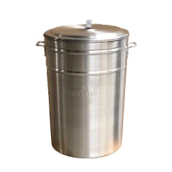 Stérilisateur en aluminium brossé 24 bocaux de 1 L