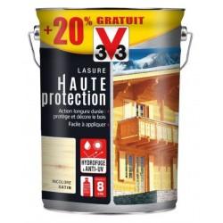 LASURE HAUTE PROTECTION BOIS INCOLORE 2.5L+20% GRATUIT V33