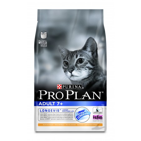 CROQUETTES CHAT PRO PLAN  ADULT 7+ POULET 3KG PURINA