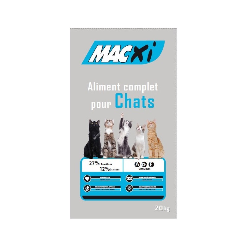 CROQUETTES CHAT MACXI COMPLET 27/12 20KG