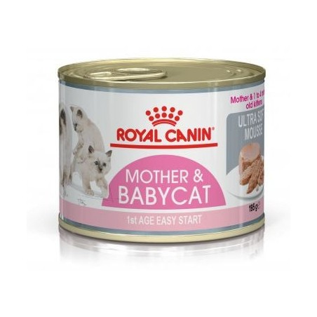 ALIMENT CHAT MOTHER & BABYCAT MOUSSE 195G ROYAL CANIN