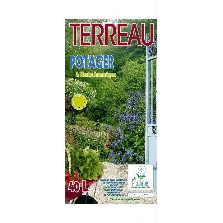 TERREAU POTAGER ECOLABEL 40L