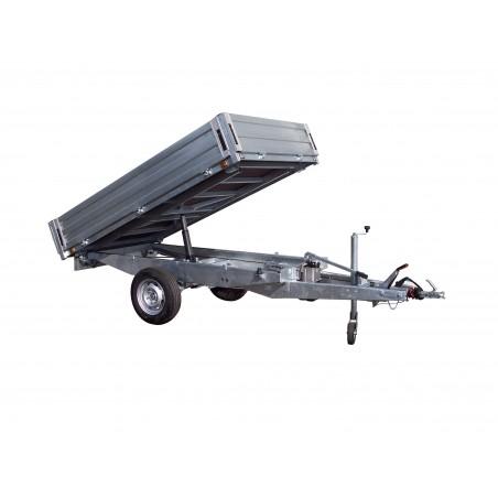 REMORQUE BENNE 2M50 TIMON FIXE POMPE MANUELLE PTAC 750 ou 1000 kg