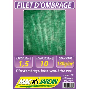 FILET D OMBRAGE OCCULTATION 80  PROMO H 1M50X10M