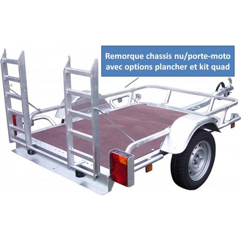 remorque ch ssis nu porte moto ptac 500 kg mod le 34401 p le vert cugnaux. Black Bedroom Furniture Sets. Home Design Ideas