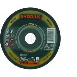 DISQUE FIN RHODIUS INOX 230 XT38