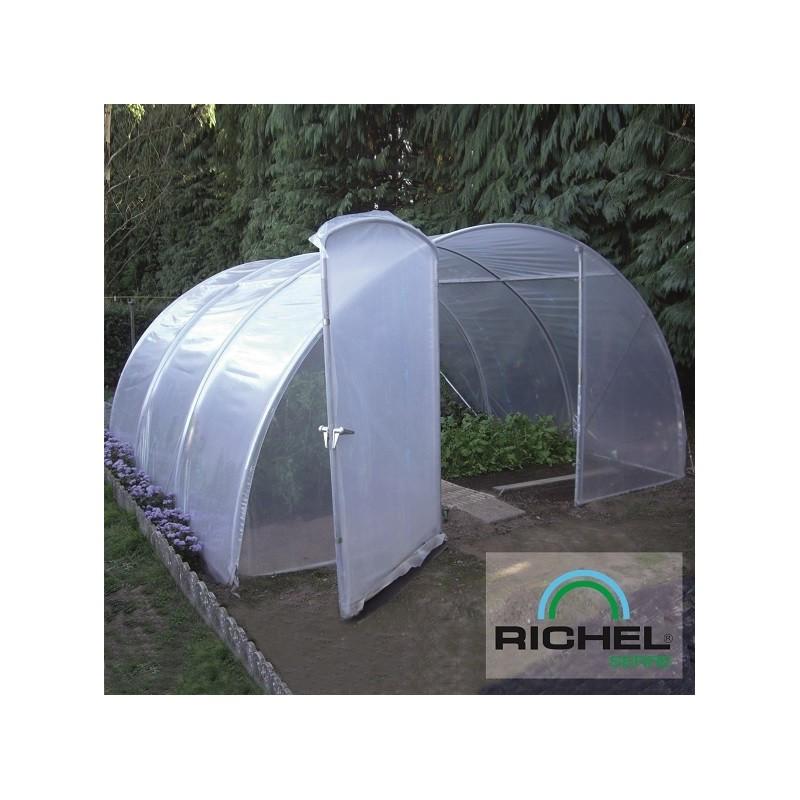 serre tunnel richel 4 5mx4 5m 1 porte tube 32mm 2x180mi p le vert cugnaux. Black Bedroom Furniture Sets. Home Design Ideas