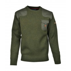 PULL CHASSE BRODE CERF