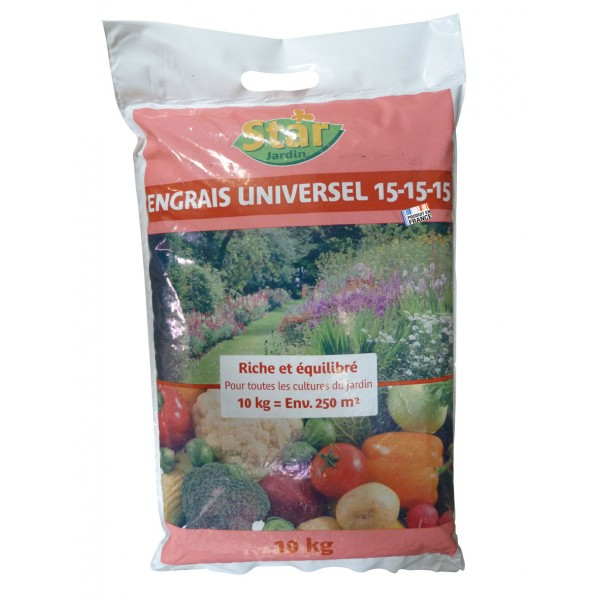 Engrais universel 3x15 10kg p le vert cugnaux for Engrais 3 fois 15