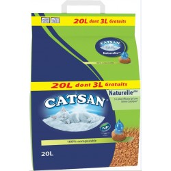 LITIERE NATURELLE PLUS  CATSAN 20 L DONT 3 L GT