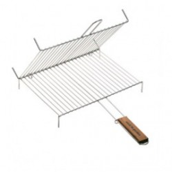 GRILLE DOUBLE DOUBLE A PIEDS RECT 40X30 CM