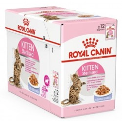 ALIMENT HUMIDE CHAT KITTEN STERILISED GELEE 12X85G DONT 4 OFFERTS ROYAL CANIN