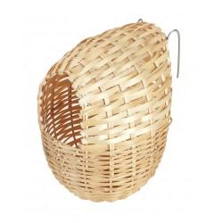 Nid exotique en bambou 12 x 11 cm