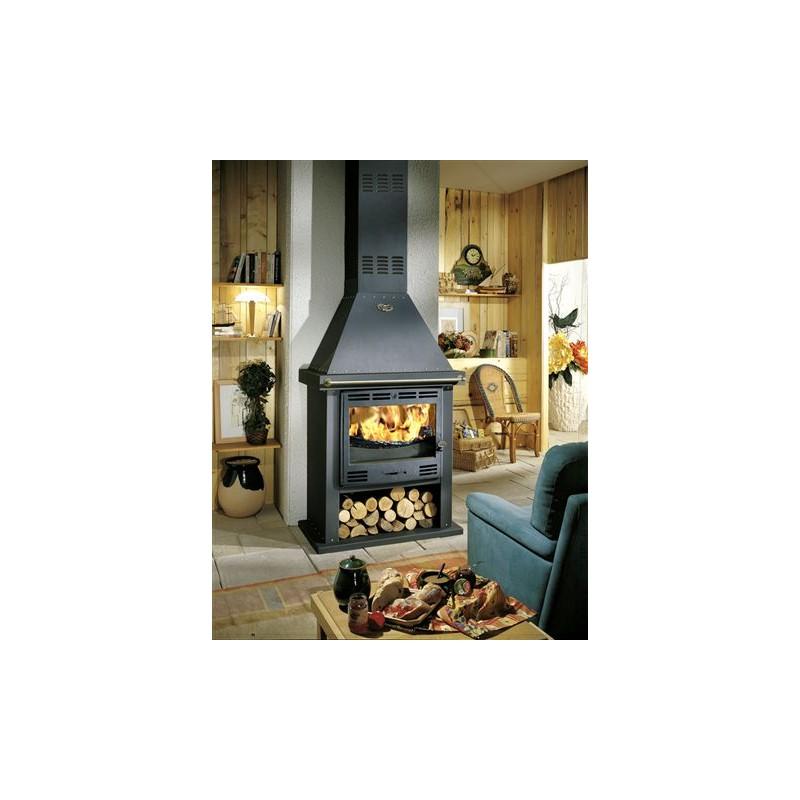 poele a bois cheminee godin cantou 10kw buche60cm p le. Black Bedroom Furniture Sets. Home Design Ideas