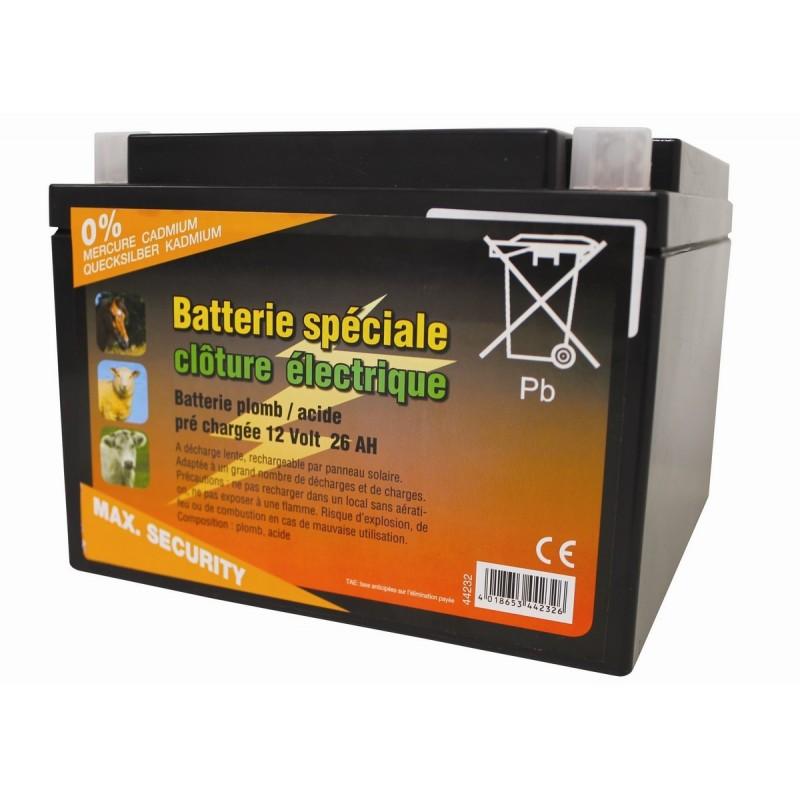 batterie cloture a decharge lente 12v 26ah p le vert cugnaux. Black Bedroom Furniture Sets. Home Design Ideas