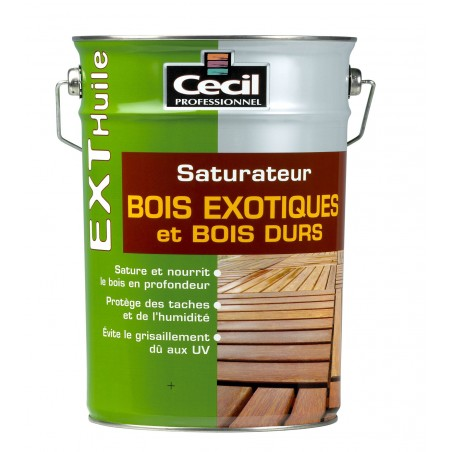 SATURATEUR BOIS EXOTIQUES ET BOIS DURS NATUREL 5L