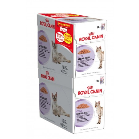 ALIMENT HUMIDE CHAT STERILISED BOUCHEES 12X85G ROYAL CANIN