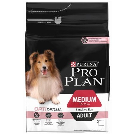 CROQUETTES CHIEN PROPLAN MEDIUM ADULT SENSITIVE SKIN 3KG PURINA