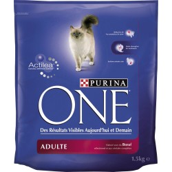 ALIMENT CHAT ONE ADULTE BOEUF 1.5 KG