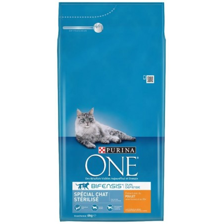 ALIMENT CHAT ONE STERILISED POULET ET BLE 6KG