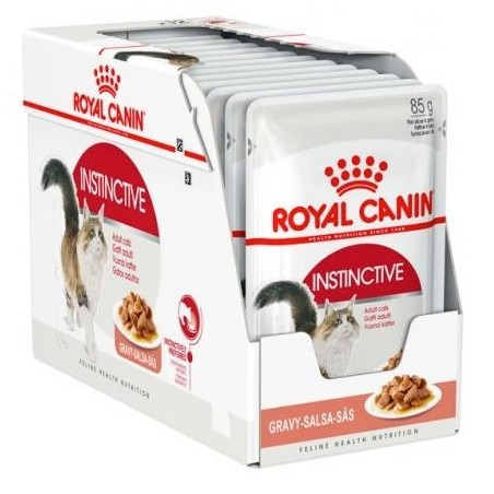 ALIMENT HUMIDE SAUCE CHAT INSTINCTIVE 12X85G ROYAL CANIN