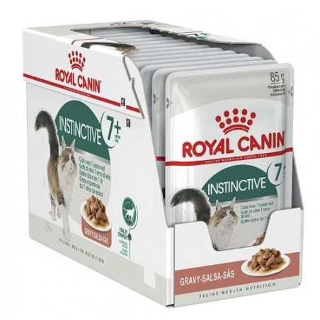 ALIMENT HUMIDE CHAT INSTINCTIVE 7+ 12X85G ROYAL CANIN