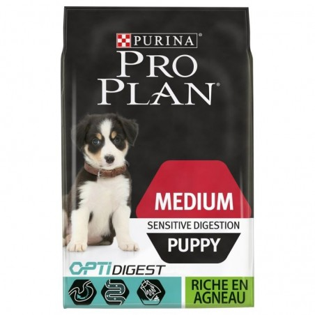 PROPLAN CHIEN MEDIUM PUPPY DIGEST AGNEAU 12KG
