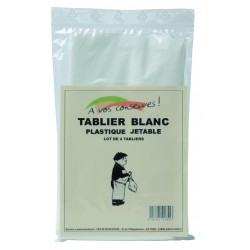 TABLIER DE BOUCHER JETABLES BLANC(X4)