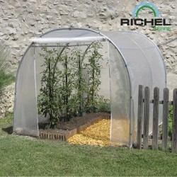 SERRE TUNNEL 2MX3M 1 PORTE ENROULABLE TUBE 32MM 200MI