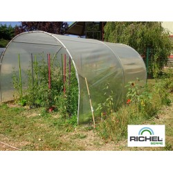 ABRI DE CULTURE RICHEL 3X4M TUBE 32MM 200MI SANS PORTE