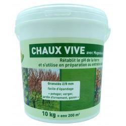CHAUX VIVE  SEAU 10KG 90% CAO +  3 MGO