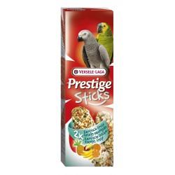 2 Sticks aux fruits exotiques pour perroquets