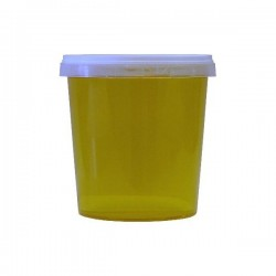 POTS MIEL PLASTIQUE NEUTRE TRANSPARENT 1KG X10