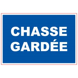 PLAQUE CHASSE GARDEE NP 404