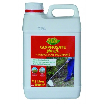 Desherbant glyphosate 2 5l sans toxicologie pole vert evreux - Desherbant total puissant ...