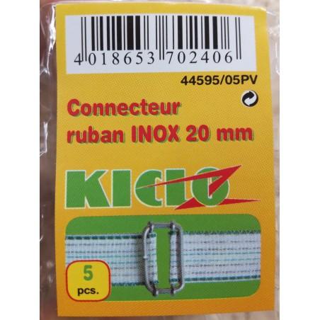 CONNECTEUR RUBAN INOX 20MM