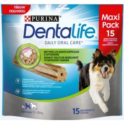 LOT DE 15 BATONNETS A MACHER DENTALIFE