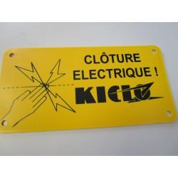 PLAQUE SIGNAL.CLOT.ELECTRIQUE KICLO X1